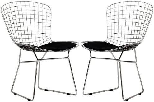 Modway CAD Dining Chairs Set of 2 in Black