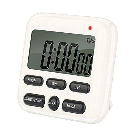 Reloj para Cocina, Temporizador Digital para Cocina, Pantalla LCD grande, Alarma Sonora,