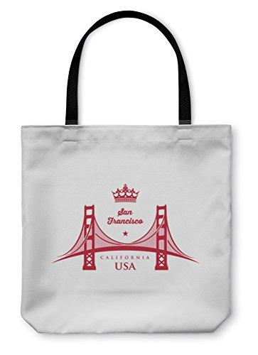 Gear New Shoulder Tote Hand Bag, Golden Gate Bridge Symbol, 18x18, 5589064GN