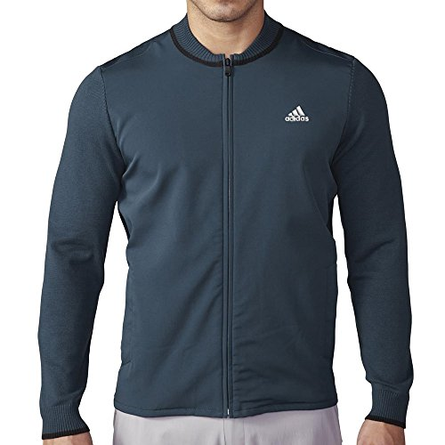 adidas Golf Men's Range Hybrid Sweater Jacket, Mineral Blue S, Medium by adidas
