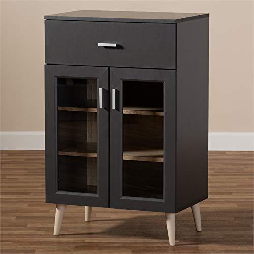 Baxton Studio Jonas Server Cabinet in Dark Grey and Oak Brown by Baxton Studio (Image #5)