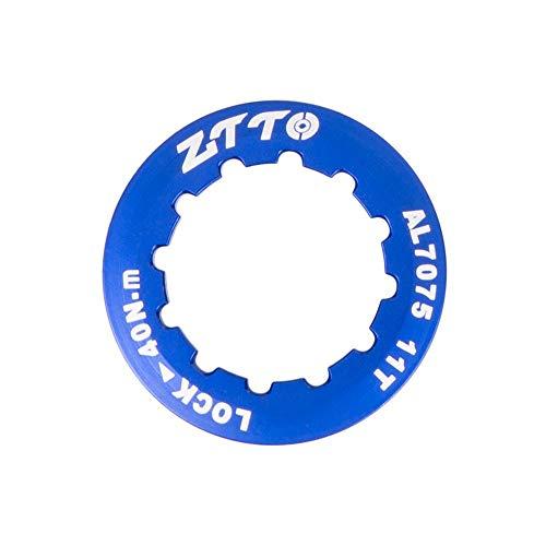 Alloy Cassette - Banghotfire Lightweight Aluminum Alloy MTB Mountain Road Bike Cassette Cover Lock Ring Blue