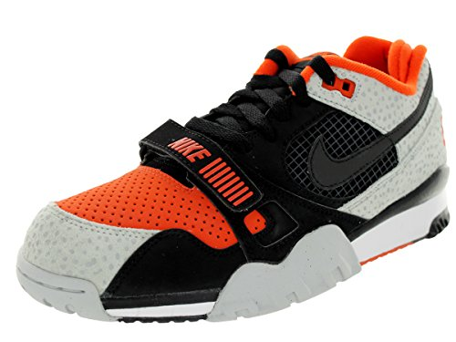 Nike Men's Air Trainer 2 Prm QS Black/Black/Tm Orange/Wlf Gry Training Shoe 8.5 Men US