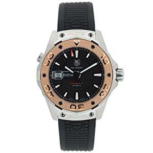 TAG Heuer Men's WAJ2150.FT6015 Aquaracer Calibre 5 Automatic 500M Gold Bezel Watch