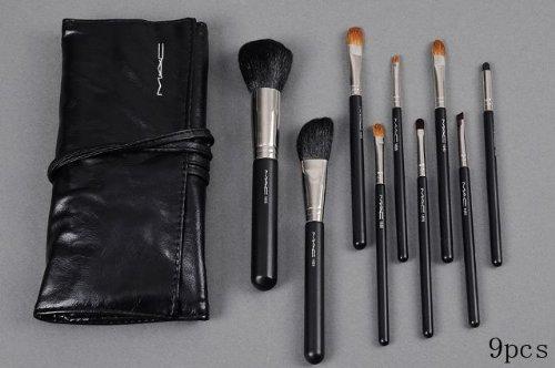 Amazon.com: Mac 9 pcs pinceles de maquillaje funda de piel ...