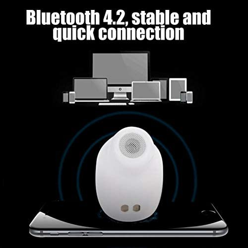 Draadloze koptelefoon Bluetoothheadset met ingebouwde microfoon voor bijna alle smartphones met Bluetooth met oplaaddooswhite