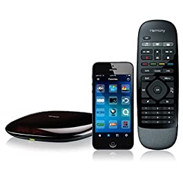 Logitech 915-000194 – Harmony Smart Remote Control with Smartphone App – Black (Renewed)
