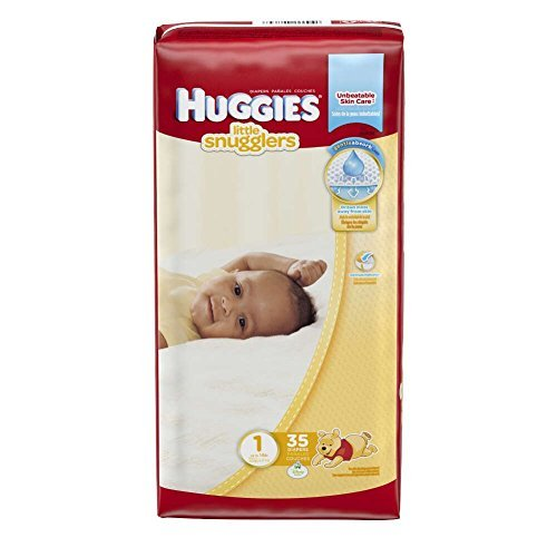 Huggies Little Snugglers Diapers Jumbo, Size 1, 8-14 lbs, 40764 (Case of 140)