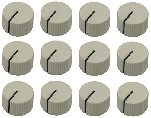 12 pcs round serrated creme white knobs with teeth for amp guitar pedal (Amplifier Knobs)
