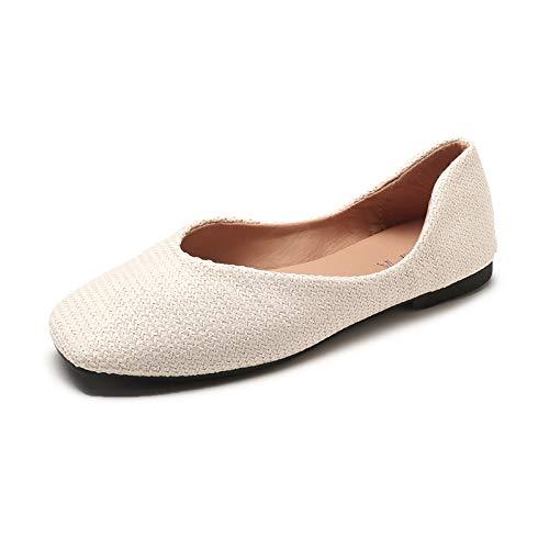 la Zapatos Mujeres Mujeres Zapatos Retro Boca Tejidos FLYRCX Trabajo Las Planos de de Antideslizantes cómodos Baja de Las Zapatos Los Zapatos A Solos de Embarazadas nTxqwYCz