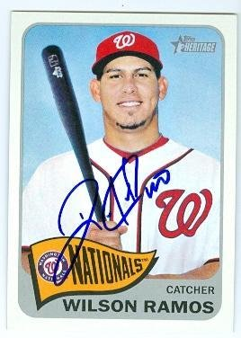 9f8e020caba Wilson Ramos autographed baseball card (Washington Nationals) 2014 Topps  Heritage  256 - Baseball