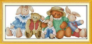 Old friends,11CT Counted Joy Sunday Cross Stitch kits 64cm/×28 or 24.96/×10.92
