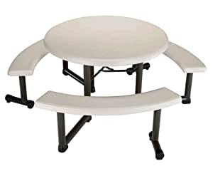 Amazon Com Lifetime Round Picnic Table And Benches 44