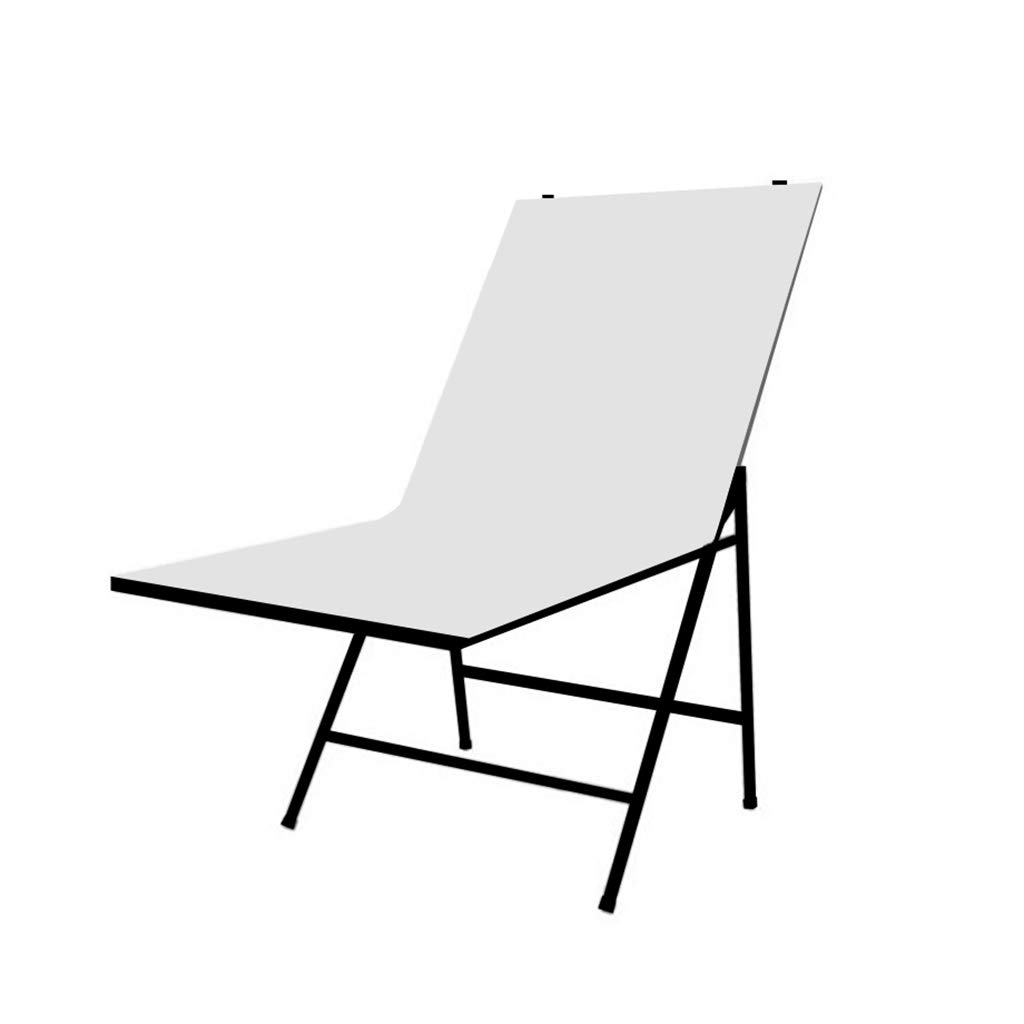 Portable Non-Reflective Still Life Shooting Metal Frame Foldable Table with600x 1000 mm Pure White Plexiglass Panel Cover Photo Studio Bench Easy Set Up Without Tools