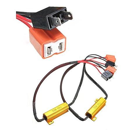 Arnes de cableado de resistencia - TOOGOO(R)2X H7 50W 6Ohm LED DRL luz de niebla de carga CANBUS arnes de cableado de resistencia de DC 12-24V: Amazon.es: ...