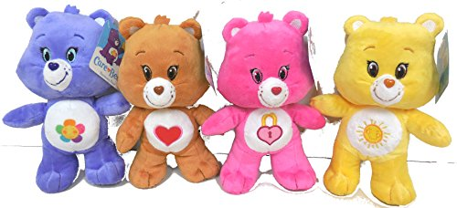 Care Bear Bears Tenderheart, Funshine, Harmony, Secret Bear 4 Plush Doll 8 Inches