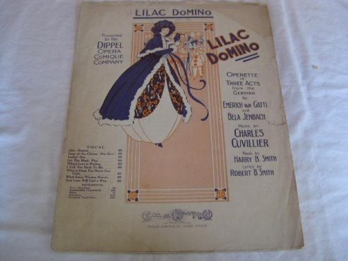 LILAC DOMINO CHARLES CUVILLIER 1914 TATTERED SHEET MUS FOLDER 458 SHEET MUSIC