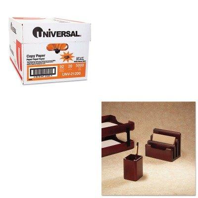 KITROL23380UNV21200 - Value Kit - Rolodex Wood Tones Pencil Cup (ROL23380) and Universal Copy Paper (UNV21200)
