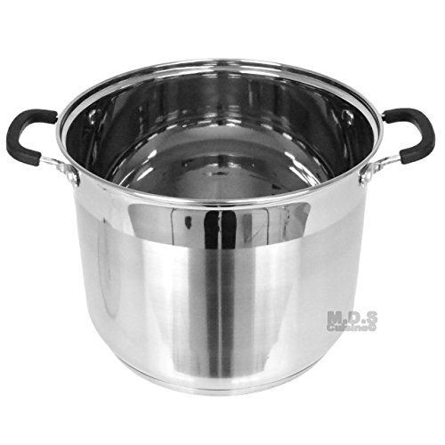 Stockpot 5 Layer Capsulated Bottom Stainless Steel Vaporera Tamalera Traditional Stock Pot Olla Tamale (11Qt) by itchen & Restaurant Supplies (Image #2)