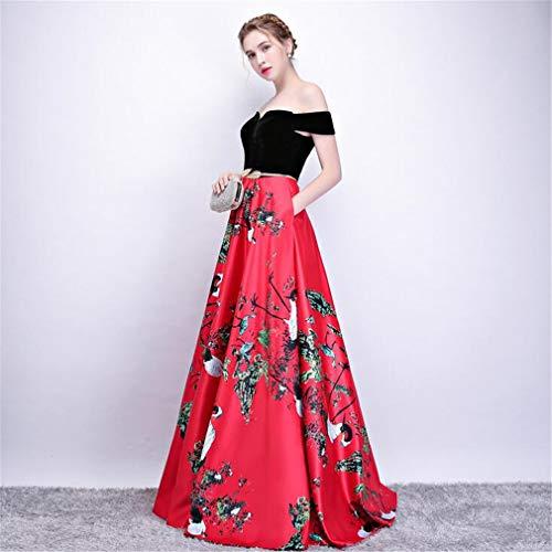 De Cóctel Hombro B Fuera q Elegante Retro Novia Drohe Del Regalo Noche Para Largo Baile Vestido Vestidos Formal A4nwE0xq1x