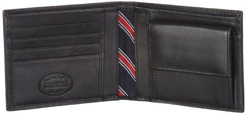 Tommy Hilfiger ETON CC AND COIN POCKET BM56918975, Herren Geldbörsen 14x10x3 cm (B x H x T) Schwarz (Black 990)