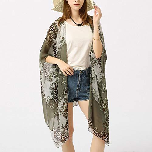 Kimono Fluide Cardigan Femme Veste L Fleur rWwSrARq