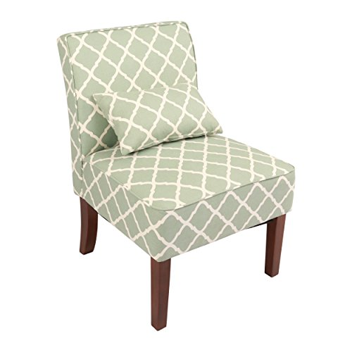 Innovex Novian Accent Chair, Green Pattern, Adult