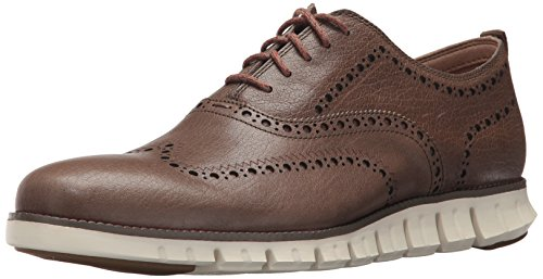 Cole Haan Men's Zerogrand Oxford Outlet Exclusive II, Morel Leathr/Ivory, 9 Medium US
