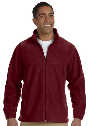 Harriton Men's 8 oz. Full-Zip Fleece, Large, (Harriton Mens Full Zip Fleece)
