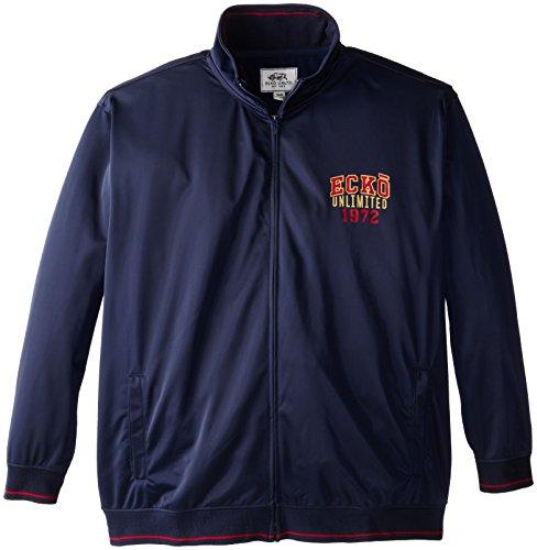 Ecko Unlimited Men's Big-Tall E72 Tricot Jacket, Navy, 3X/Big