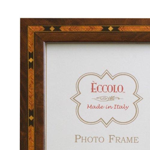 Eccolo Diamond Inlay Wood Frame, 4 by 6-Inch