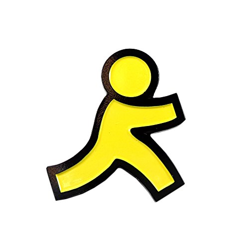 - AIM Instant Messenger Throwback Nostalgia 90s Enamel Pin Lapel