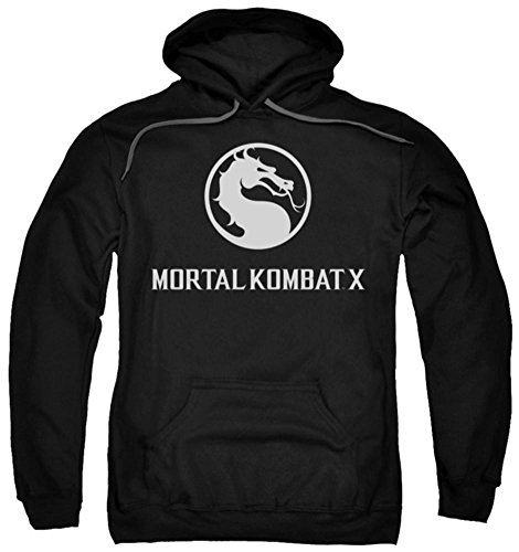 Hoodie: Mortal Kombat X - Dragon Logo Pullover Hoodie Size L for $<!--$28.60-->