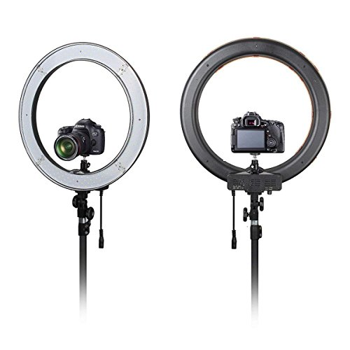 Makeup Ring And Lights: 18 Inch Photo Video Bi-Color LED Selfie Ring Beauty Light