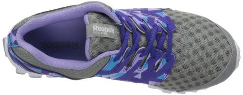 Reebok Schoenen Dames Realflex Scream 3.0 Loopschoenen Plat Grijs / Onverschrokken Paars / Fris Paars / Blauw Knipperend / Wit