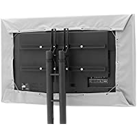 CoverMates – Outdoor TV Half Cover – Fits 50 to 54 Flat TVs – 7 Year Warranty- Grey