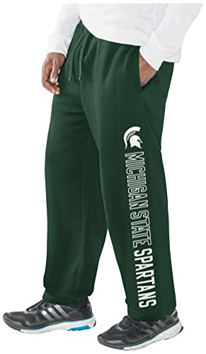 (G-III Sports NCAA Michigan State Spartans Men's Perfect Game Sweatpants, 3X-Large, Green )