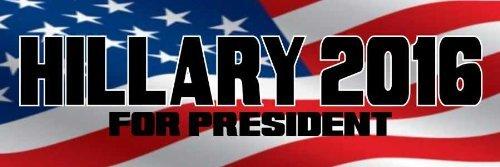 2016 Hillary Clinton for President Bumper Sticker Car Truck Window