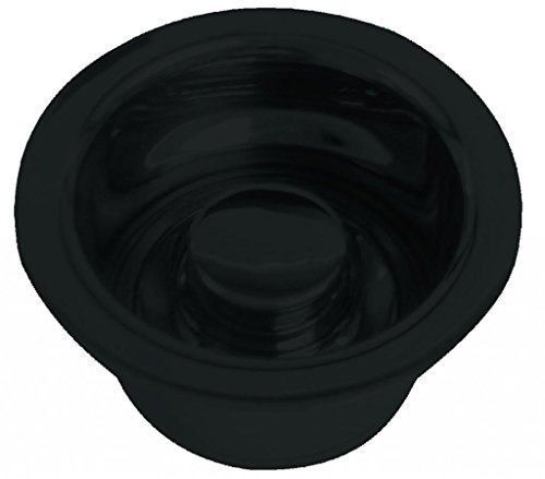 Flange Black Replacement - Westbrass R2082-62 InSinkErator Style Extra-Deep Disposal Flange and Stopper, Matte Black