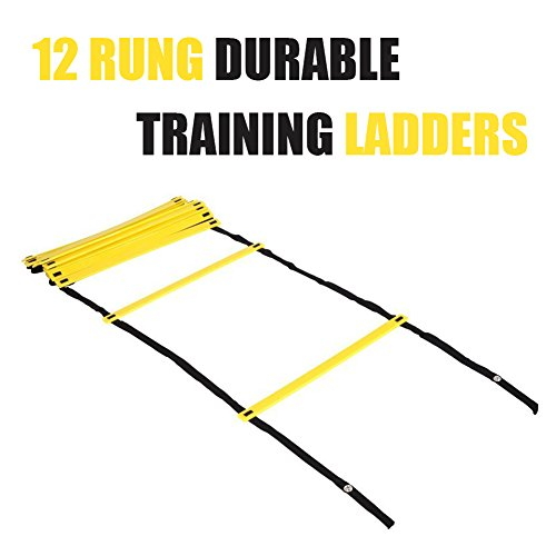 Arespark Agility Ladder, 12 rung Durable Training Ladders for Soccer, Speed, Football with Carry Bag (Classical)