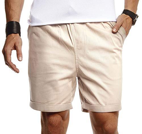 Leif Nelson Herren Kurze Hose für Sommer Slim Fit Kurze Chino Herren Shorts Hose für Männer Kurze Jogginghose Sommer Jungen Kurze Chinohose für Freizeit Sport Schwarze Bermuda Cargo LN8290
