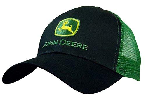 John Deere Embroidered Logo Mesh Back Baseball Hat - One-Size - Men's - Black