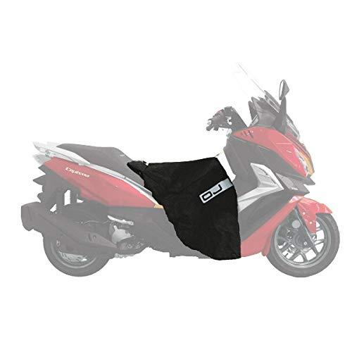 C003 Cubrepiernas OJ Maxi Fast Compatible con Suzuki Burgman 400 K3 IE Impermeable Cortavientos Negro