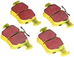 EBC Yellowstuff is an aramid fibre based brake compound with high brake effect form cold and is possibly one of the first ever compounds that can be used for STREET AND TRACK DRIVING. These pads do not require warm up but do get even stronger...