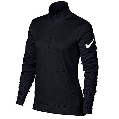 Nike Therma Fit Half Zip Fleece Golf Jacket 2017 Women Black/White Medium