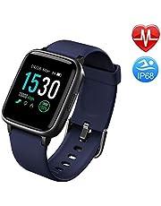 Duang Smartwatch, Bluetooth Fitnessuhr Damen Fitness Tracker Herren, 1,3-Zoll-Farbbildschirm Sportuhr mit Schrittzähler Pulsmesser Schwimmen wasserdicht IP68, iOS Smartwatch Android-Handy