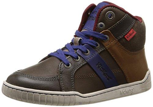 Kickers Wincut - Zapatillas de Deporte niños marrón - Marron (Marron/Bleu)