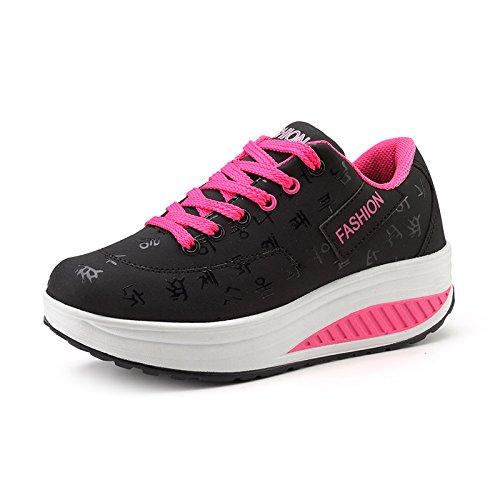 Con Mujer Zapatos amp;G Mujer De Zapatos Cuña NGRDX Casual Mujer Transpirable Deportivos Black De Impermeable Plataforma Zapatos Zapatos 0SqRx