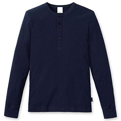Schiesser Jungen Schlafanzugoberteil Mix & Relax Shirt 1/1, Blau (nachtblau 804), 128