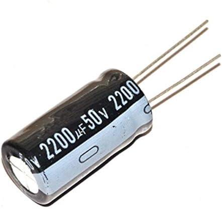 10 piezas 50 V 2200 UF 16 25 condensador electrol/ítico 25 mm 2200 UF 50 V 16